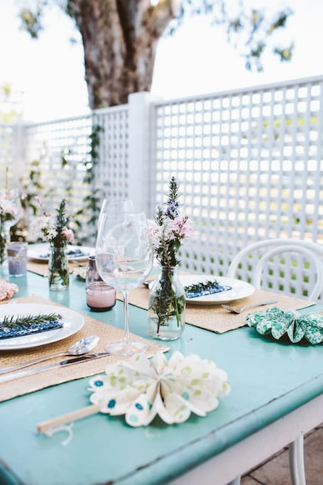 Outdoor entertaining with BBQ