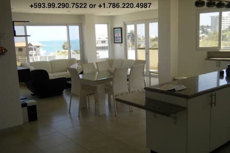 Beach condo with oceanviews/ Depto vista al mar - Salinas