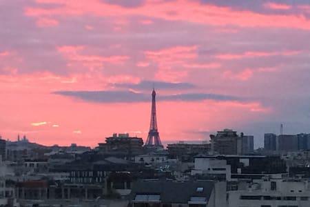 Roof top 140m2 avec vue tour Eiffel - Boulogne-Billancourt