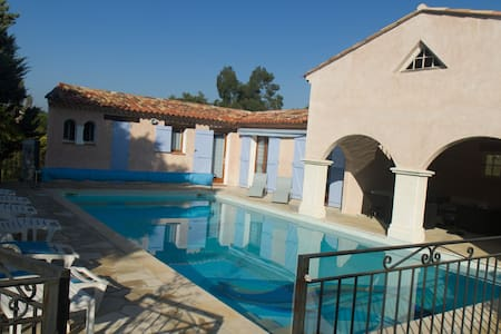 Relaxing roomy Provence pool house - Rocbaron - Hus