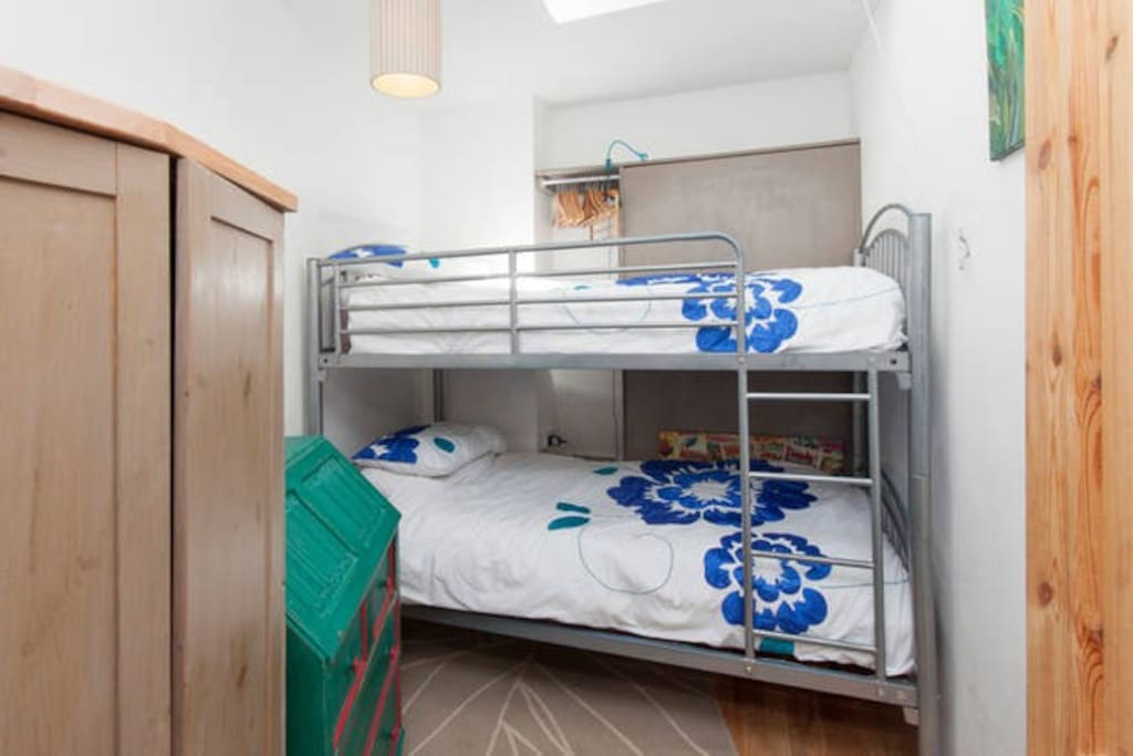 This room is often set up as a bunk bedded room.