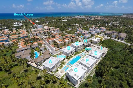 Costa Hermosa A202 - Walk to the Beach/Grocery/Dining Free WiFi - Punta Cana - Condominium