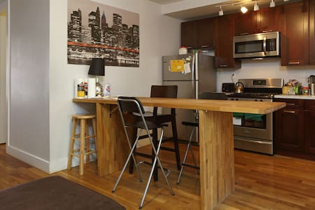 After Booking Follow Check in Directions on your itinerary. A great private room in my shared flat (7 bedrooms) in beautiful Williamsburg. The apartment is central to all that williamsburg has to offer.