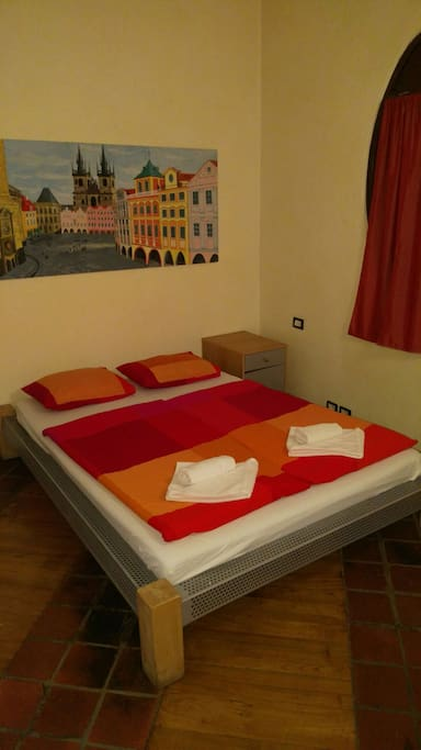 The second bedroom with double bed