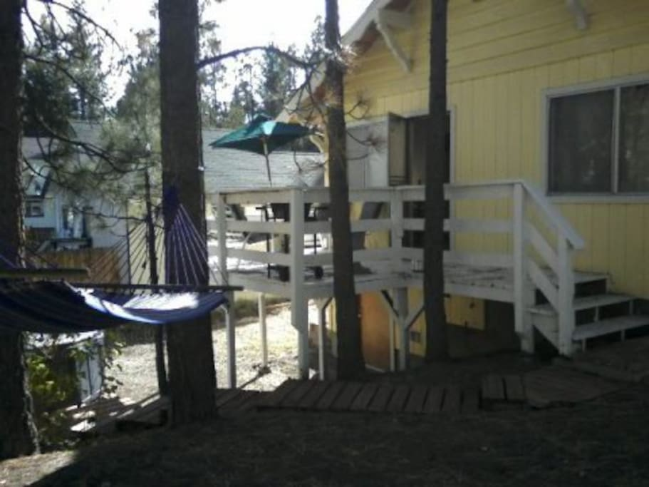 Back deck and hottub