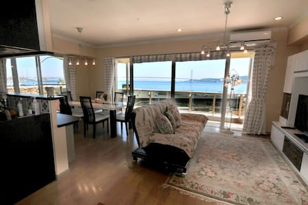 Ocean view condominium/3BR freeWifi/Near Kobe - Kondominium