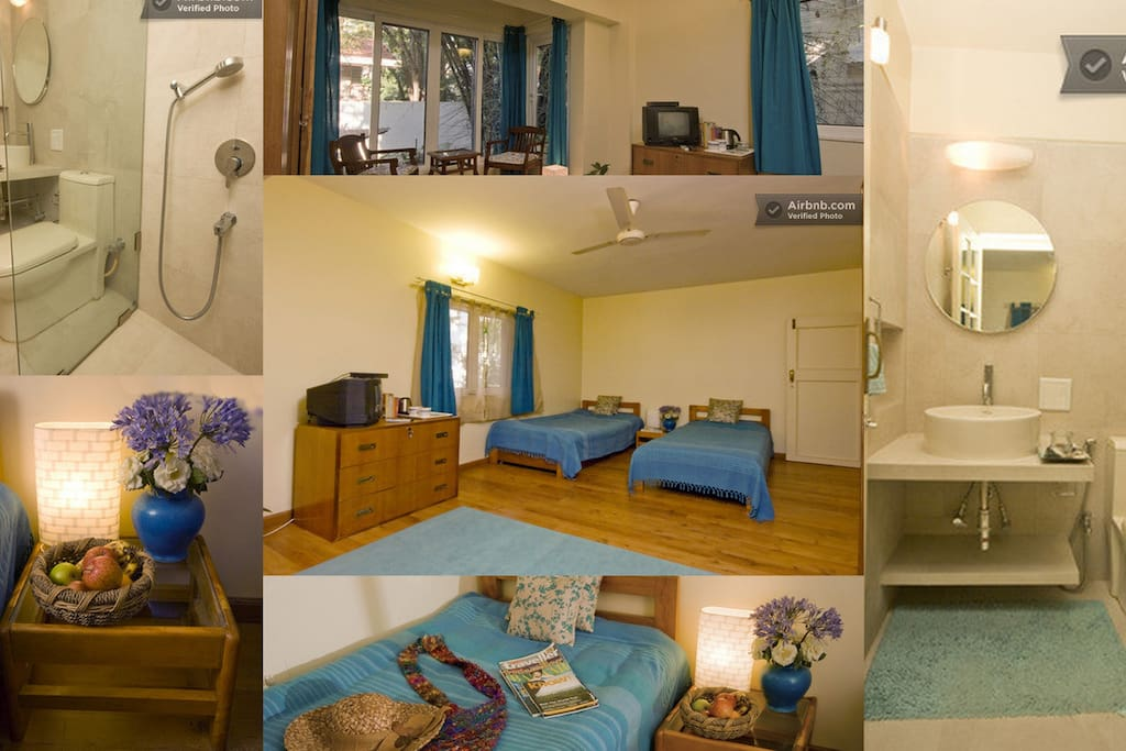 Twin room with ensuite bathroom