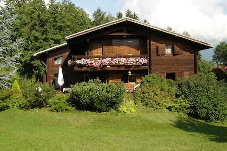 70m² Apt with balcony, overviewing Mont-Blanc - Leilighet