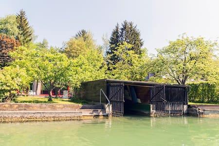 Badehaus & Boot Sattnitz Klagenfurt - Rumah