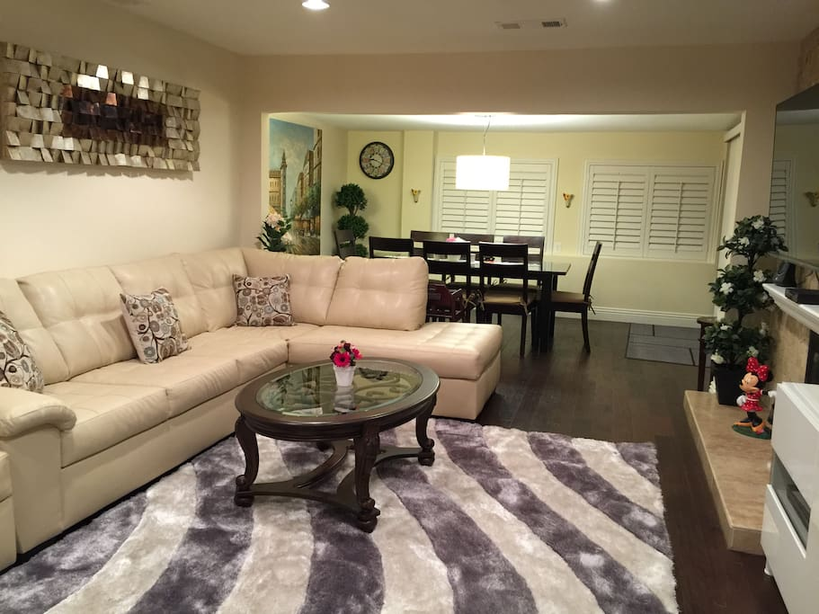 Large sofa in the Living room.