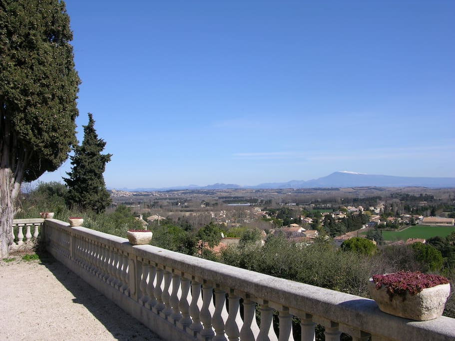 view over Vallée du Rhône