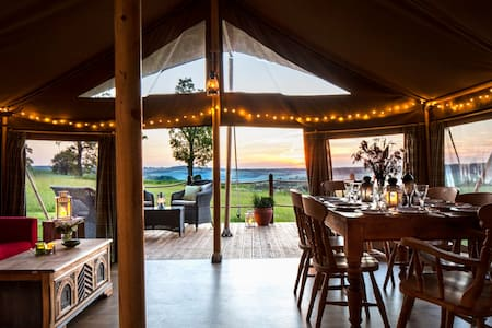Beautiful safari tent in a tranquil meadow - West Meon - Tält