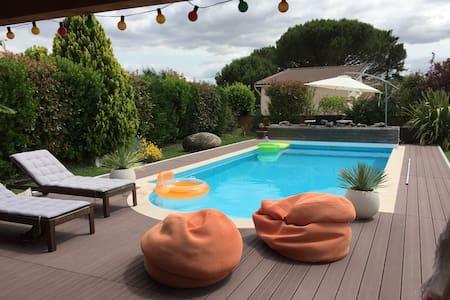 Maison avec piscine 25km Toulouse - Eaunes - Huis
