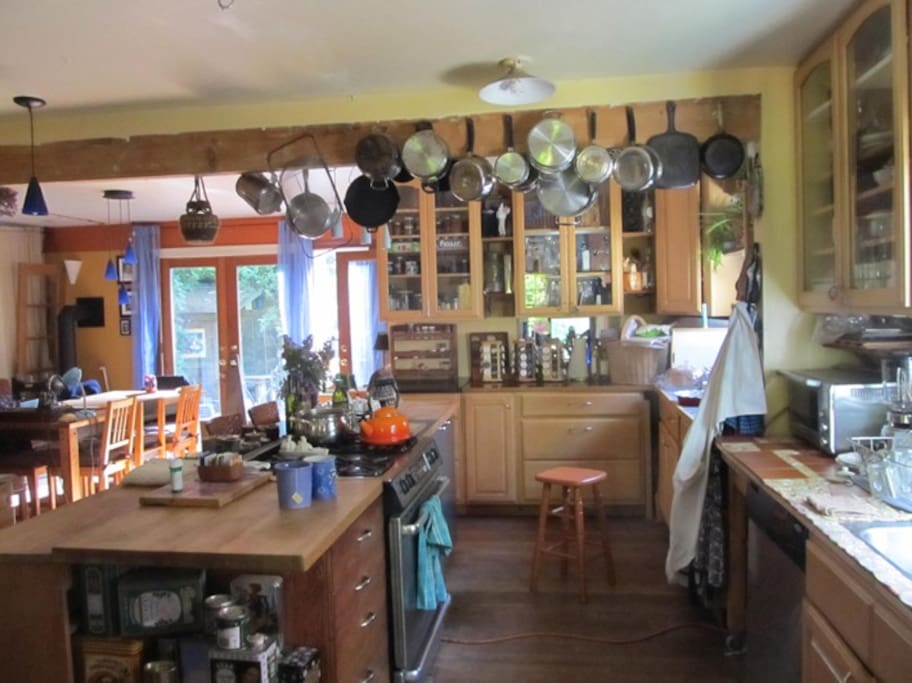 Another shot of the large and very functional kitchen.