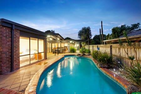 Private poolside fun - House