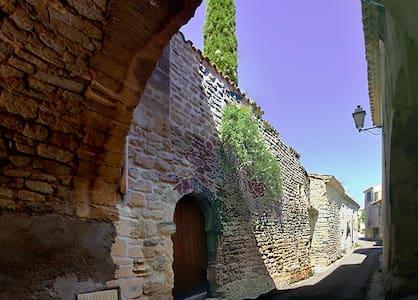 Grand appart autour d'un très beau patio du XIV s. - Junas