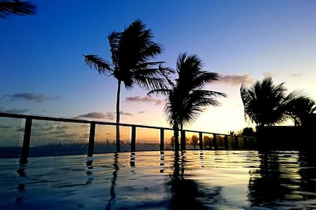 Charming beachfront flat in João Pessoa Metro Area - Cabedelo