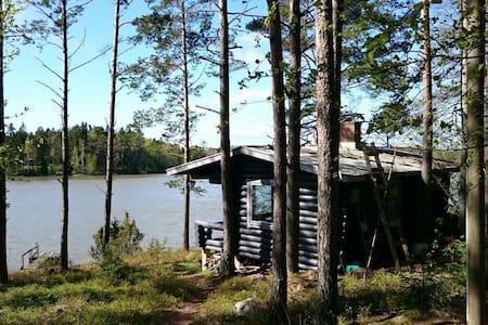 Käpälämäki - Rantamökki Sweet cabin by the lake - Naantali - Blockhütte