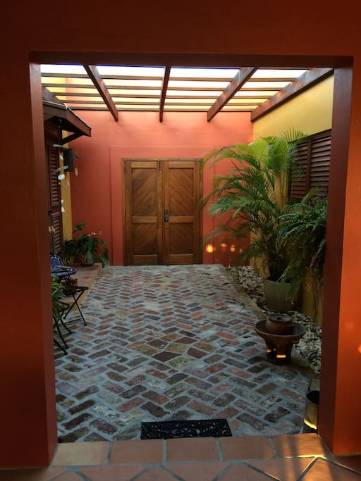Entry courtyard.