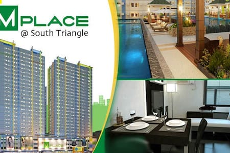 1BR Fully Furnished/ Mplace @ South Triangle, Q.C - Quezon City - Condomínio