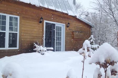 La maisonnette de Sylvie l'hiver - Saint-Jacques-le-Mineur - Talo
