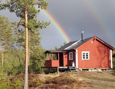 Naturparadis med egen strand, jakt och fiske - Bäckefors - Stuga