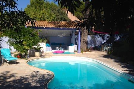 Romantic blue house, in Provence - Saint-Mitre-les-Remparts - Villa