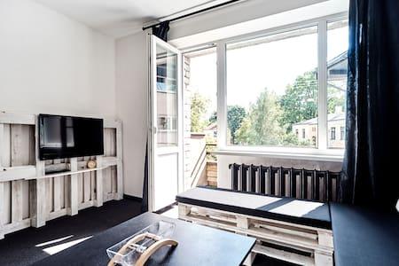 The Black and White Apartment - Riga