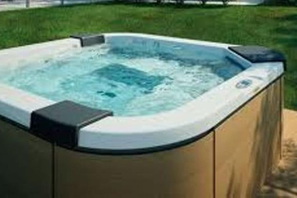 Private whirlpool bathtub.