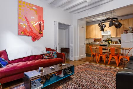 A unique apartment on Cornelia Street is in the best location, right in the heart of West Village with access to the best restaurants, Washington Square Park and more. Apt opens into a beautiful courtyard - an escape from the bustle of the city!