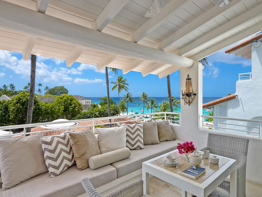 Views from private covered terrace