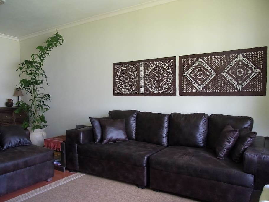 Sofa in the Living Room with Garden View