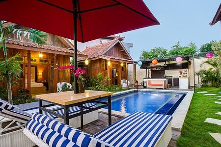 Krisna Village located at Balangan Beach - Ungasan. Only 5 minutes from Balangan beach, we provided 5 rooms, mini bar, and large pool.