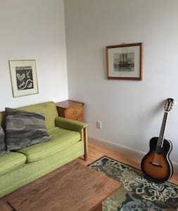 Room type: Private room Bed type: Pull-out Sofa Property type: Apartment Accommodates: 2 Bedrooms: 1 Bathrooms: 1.5