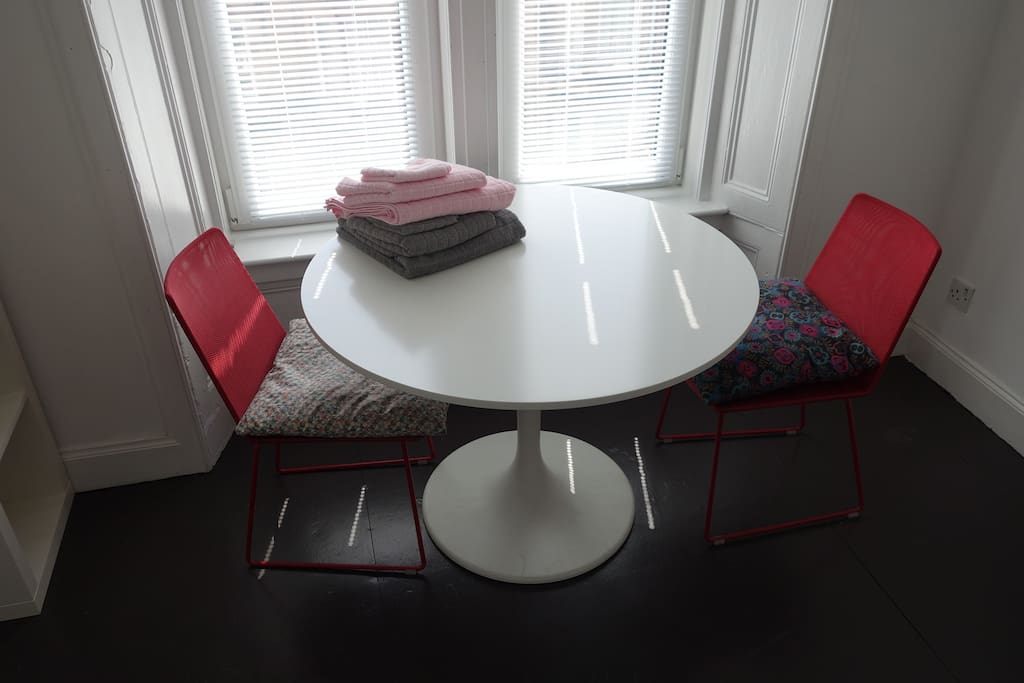 Private dining table and chairs