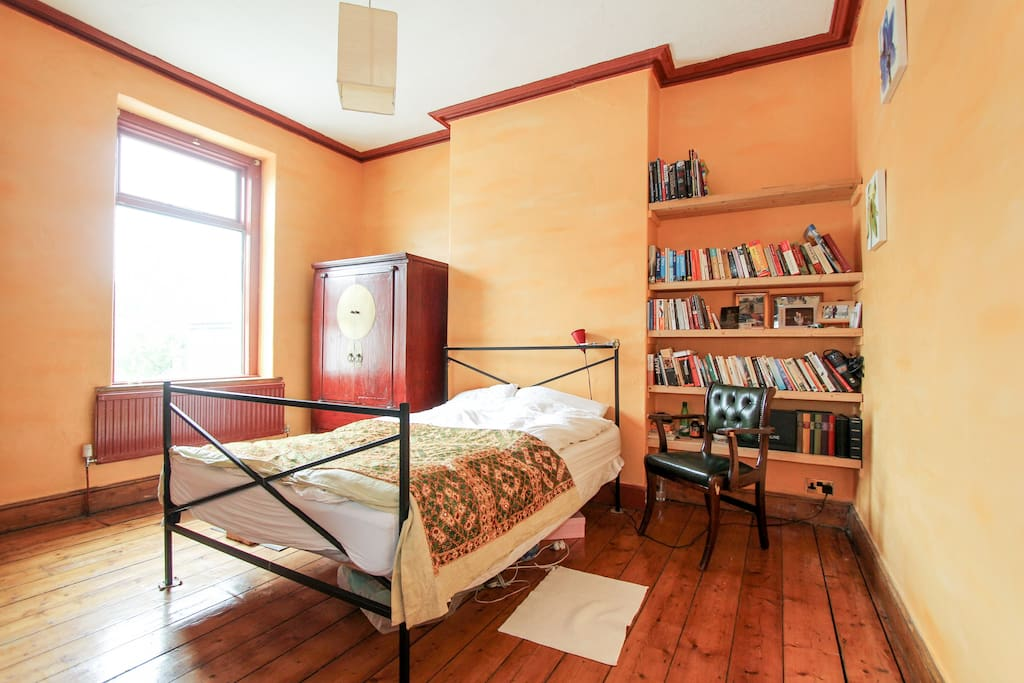 Bedroom with Chinese wedding cabinet