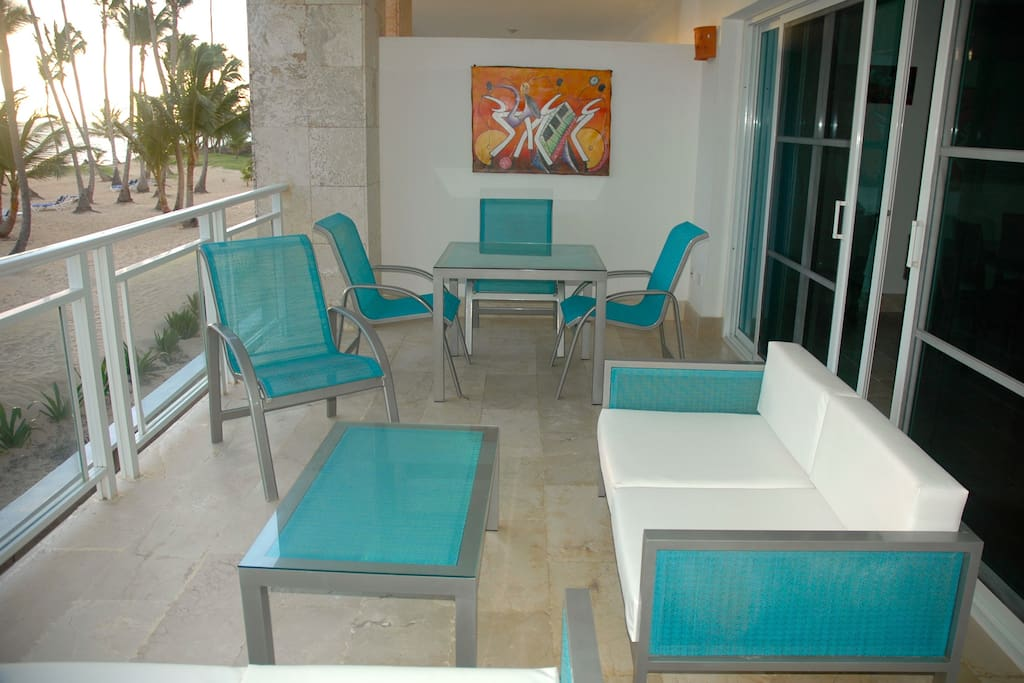 Spacious and comfortable  terrace waiting for you and your first cup of coffee or last glass of wine!