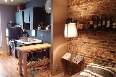 Cozy full furnished studio in the Plateau Mt Royal - Montréal - Wohnung