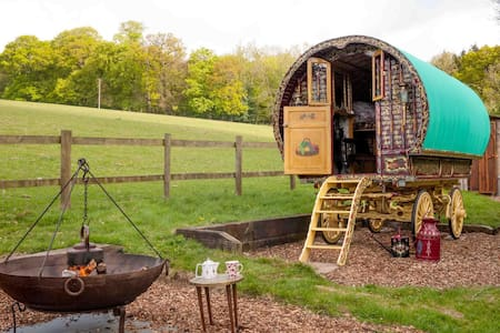 Gypsy Caravan and Shepherds Hut in The Chilterns - Turville Heath - Bed & Breakfast
