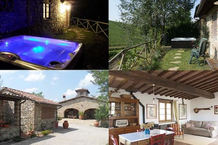 Florence Chianti cottage - jacuzzi - San Casciano in Val di Pesa - Cottage