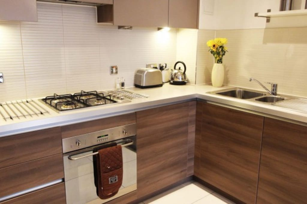 Each one bedroom apartment has a fully equipped kitchen