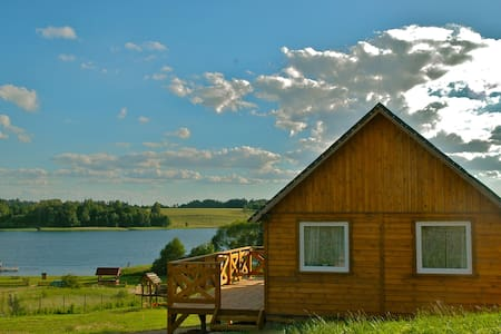 Domek drewniany nad jeziorem - Hütte