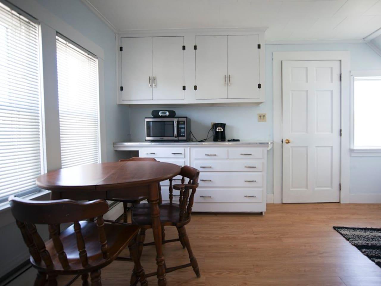 Kitchen - includes all utensils, pots & pans.