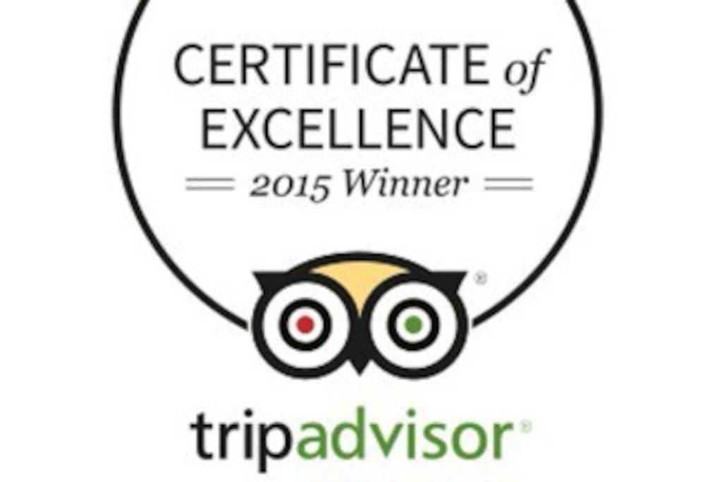 4*B&B TRIPADVISOR 2015 AWARD WINNER