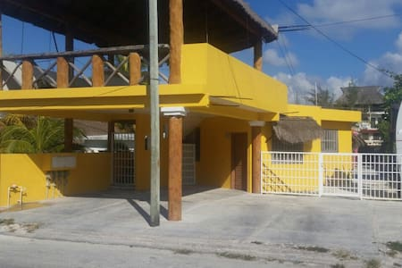 This Aparment is located 10 steps to the beach,  in a little town called Puerto Morelos, 30 minutes from Cancun