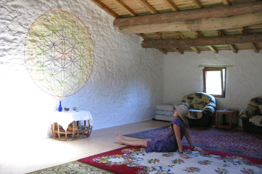 inside the 80m² barn space
