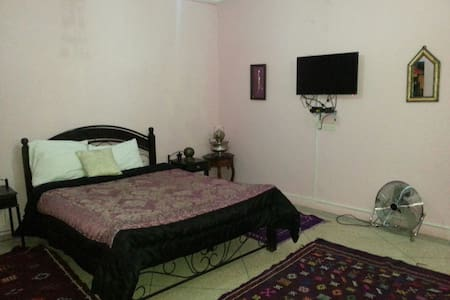 Room with double bed & single bed