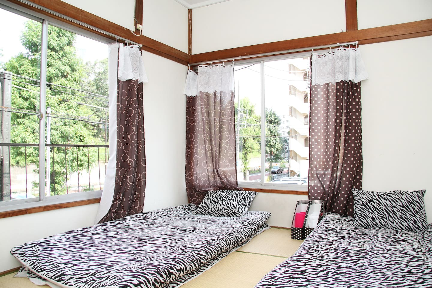 There are 3 bedrooms like this one - all with great outside views