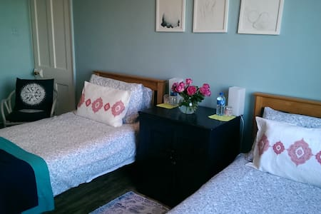 Friendly home ,long stays welcome