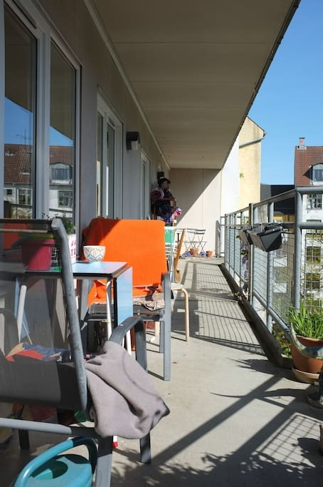 Our lovely balcony with sun all day.